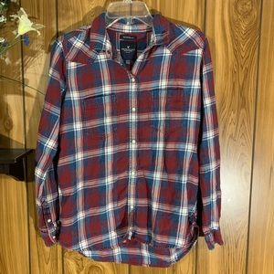 American Eagle Outfitters Flannel Boyfriend Fit